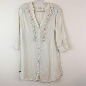 Converse All Star Buttoned Shirt 3/4 Sleeves Sz S